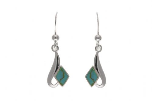 Sterling Silver Turquoise Drop Earrings BP0284